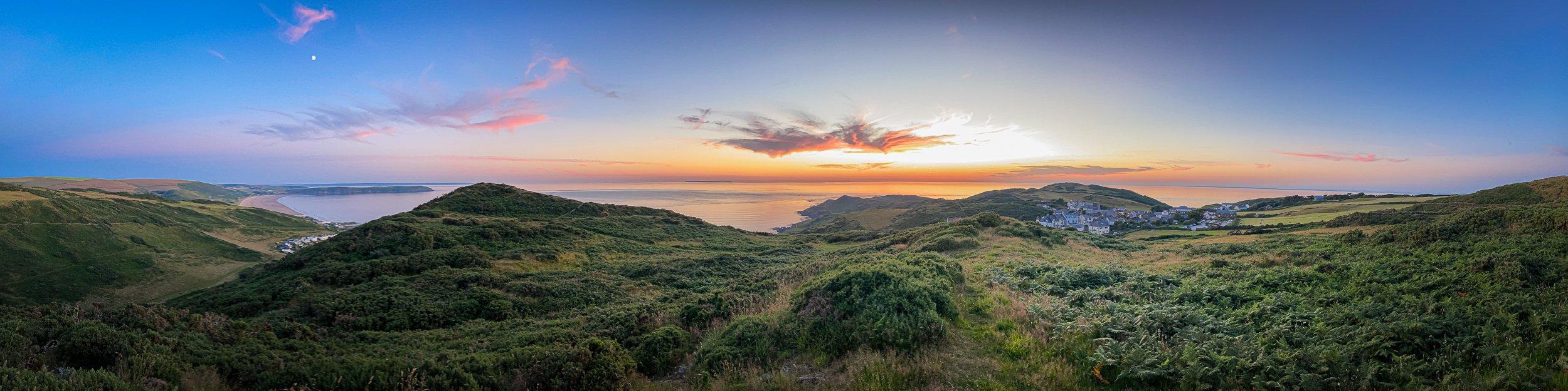 Sunset over Woolacombe & Mortehoe